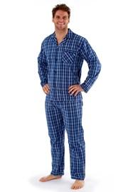 Pijama barbateasca Harvey Blue Check Long