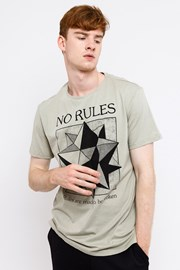 Tricou barbatesc MF No Rules Beige