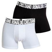 2pack boxeri barbatesti CR7 CRISTIANO RONALDO Black White