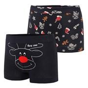 2 pack boxeri baieti Christmas