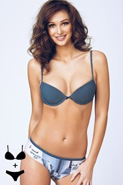 Set sutien Giulia1 cu efect Push-Up si chilot