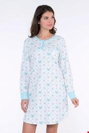 Camasa de noapte dama Arctic albastra