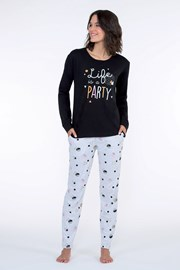 Pijama dama Party neagra