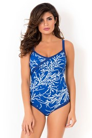 Costum de baie intreg David Mare Blue Reed, fara balene