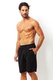 Pantalon scurt negru, din bumbac