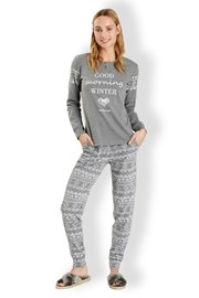 Pijama dama Winter Grey