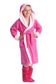 Halat de baie Zuzana roz, pentru fetite