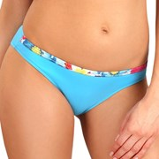 Slip costum de baie Flowers Blue