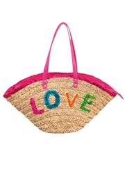 Geanta plaja Funtext Love