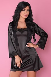 Set elegant satinat Jacqueline Black