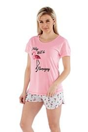Pijama dama Flamazing, scurta