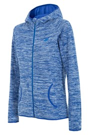 Hanorac sport de dama 4F Blue, material fleece