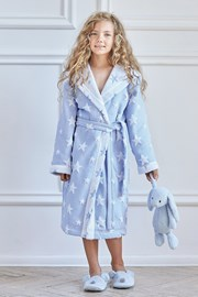 Halat de baie froté pentru fetite Blue Star