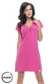 Camasa de noapte Joy Pink pentru alaptare, din fibre de bambus