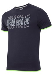 Tricou barbatesc 4F Never Give Up, 100% bumbac
