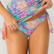 Slip costum de baie Flower Power