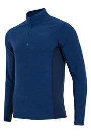 Bluza barbateasca 4f Navy, material fleece fin