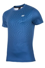 Tricou fitness barbatesc 4f Dynamic Blue