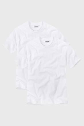 2pack tricou barbatesc White, decolteu in V