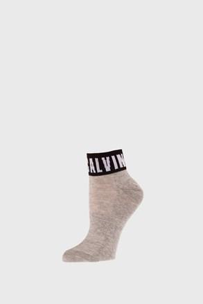 Șosete de damă Calvin Klein Kayla gri.