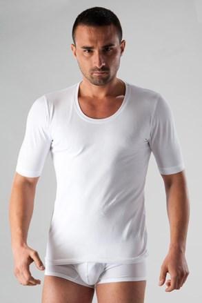 Tricou barbatesc Basic 51T9, alb