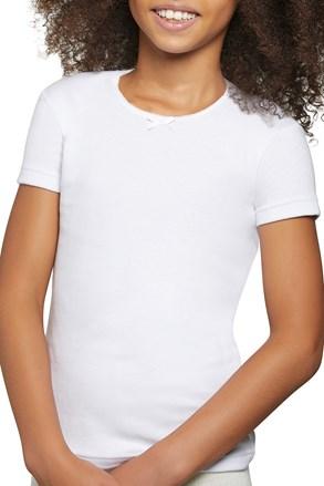 Tricou fetite Simple, din bumbac