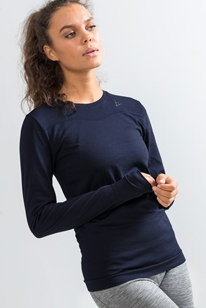 Bluza dama Craft Fuseknit Comfort, albastru inchis