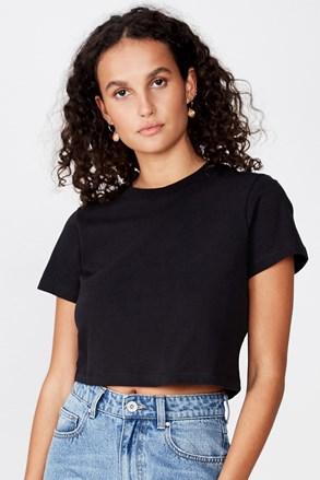 Tricou de damă basic cu mâneci scurte Baby negru