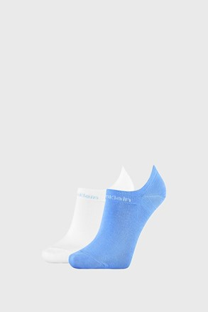 2 PACK șosete damă Calvin Klein Leanne, albastru-alb