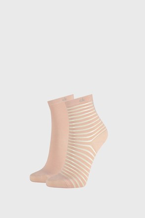 2 PACK șosete damă Calvin Klein Lilly, roz