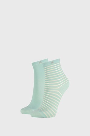 2 PACK șosete damă Calvin Klein Lilly, verde