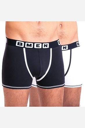 2 pack boxeri barbatesti BELLINDA BMEN, negru-alb