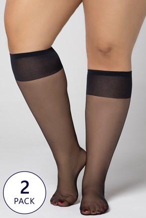 2 PACK șosete până la genunchi Plus Size 20 DEN