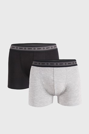 2 PACK boxeri DIM Ecosmart gri-negru