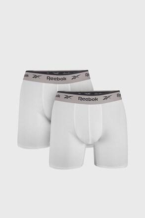 2 PACK boxeri Reebok Basic Sport, alb