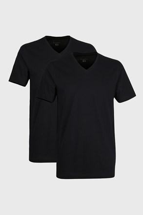 2 pack tricou barbatesc bugatti V-neck, negru
