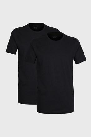 2 pack tricou barbatesc bugatti O-neck, negru