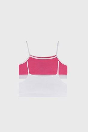 2 PACK top pentru fetițe roz-alb