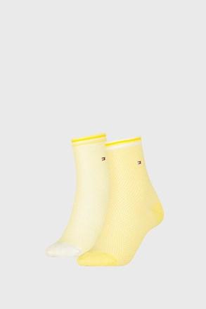 2 PACK sosete dama Tommy Hilfiger Honeycomb Yellow