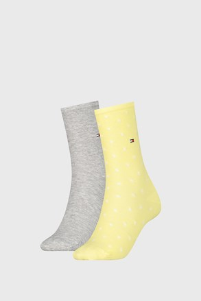 2 PACK șosete damă Tommy Hilfiger Dot Yellow