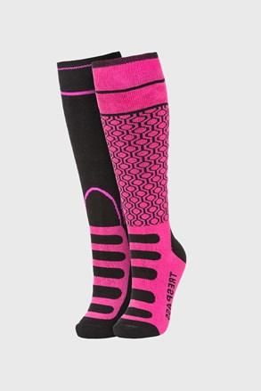2 PACK sosete pana la genunchi Concave, roz