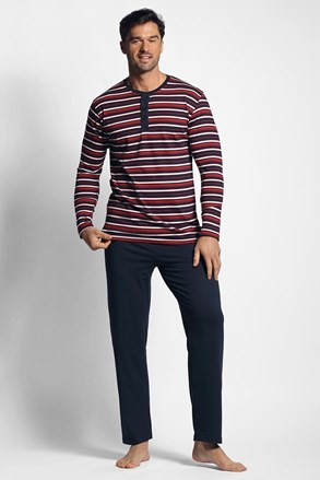 Pijama cu model dungat, rosu-albastru
