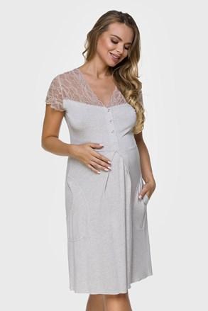 Cămașă de noapte Stacey Beige sarcină și alăptare