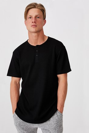 Tricou Henley, negru