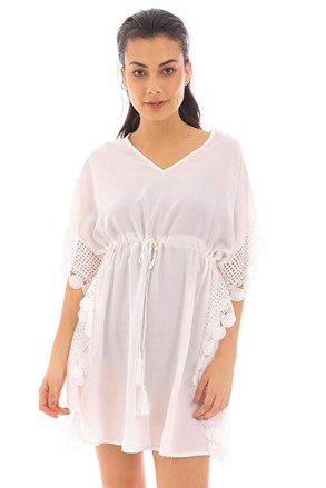 Rochie de plaja angela, alb