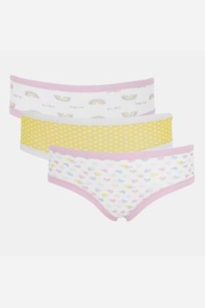 3 PACK chiloți pentru fete Basic Cotton Rainbow