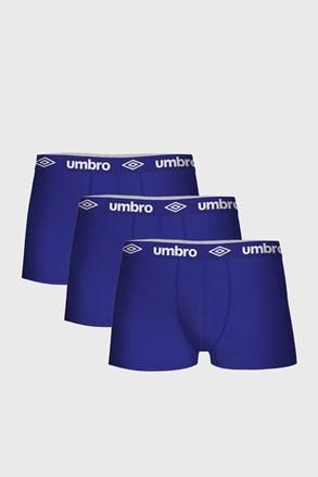 3 PACK boxeri Umbro din bumbac, albastru