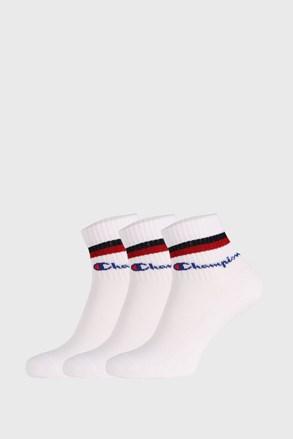 3 PACK șosete Champion Classic stripes alb