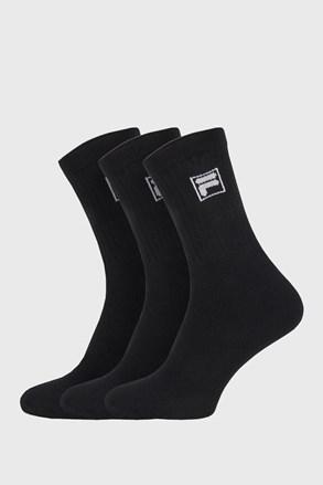 3 pack sosete negre cu logo-ul FILA