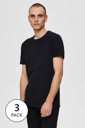 3 PACK tricou Selected Homme New Pima